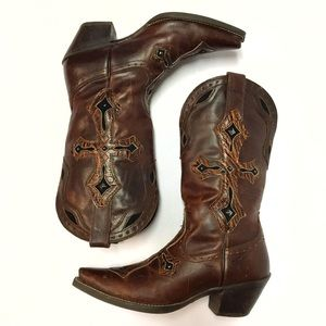 Ariat Ladies Snip Toe Cross Cowboy Boots Size 7